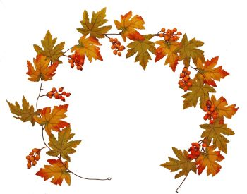 Autumnal Maple Leaf and Berry Garland