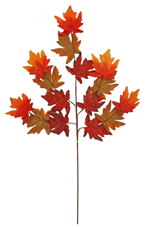Autumnal Shimmer Maple Leaf Stem