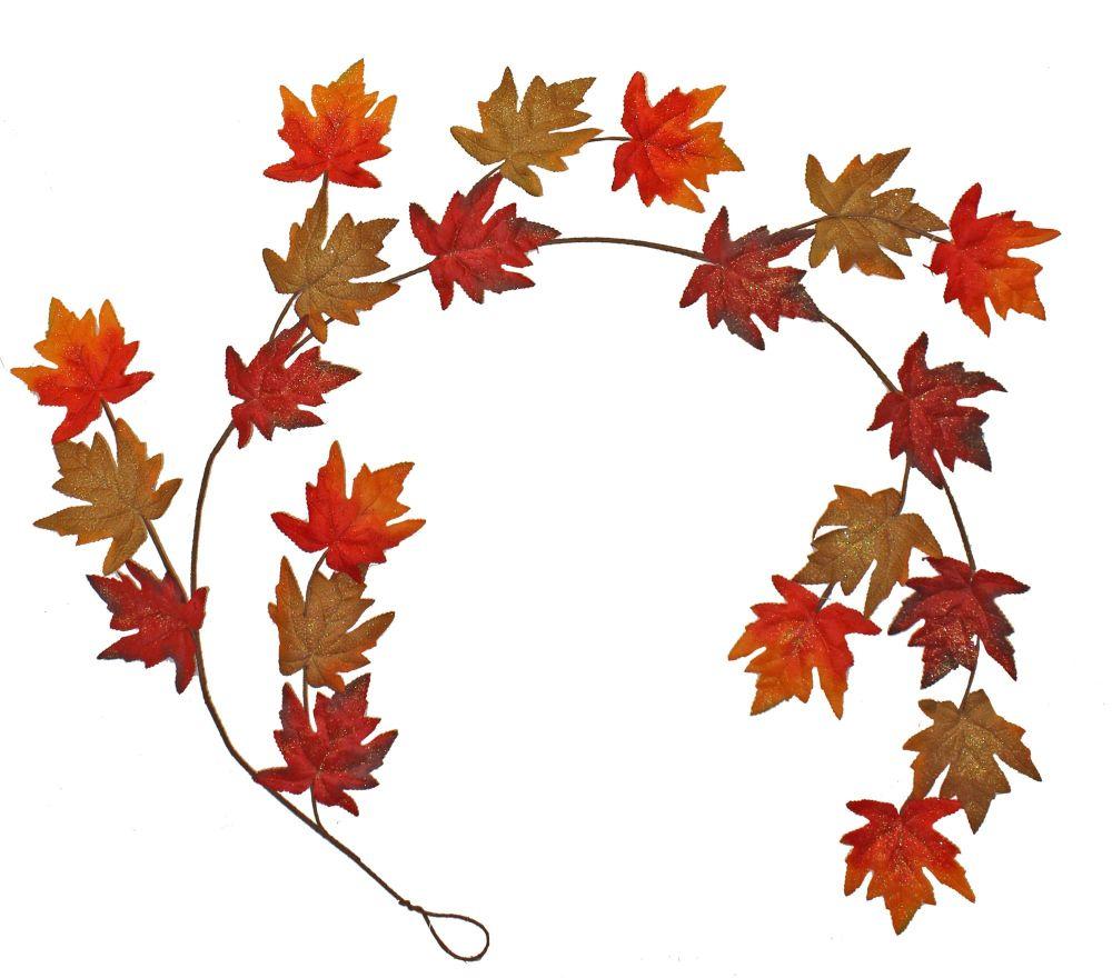 Autumnal Shimmer Maple Leaf Garland