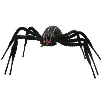 Gisela Graham Giant Black Flocked Spider