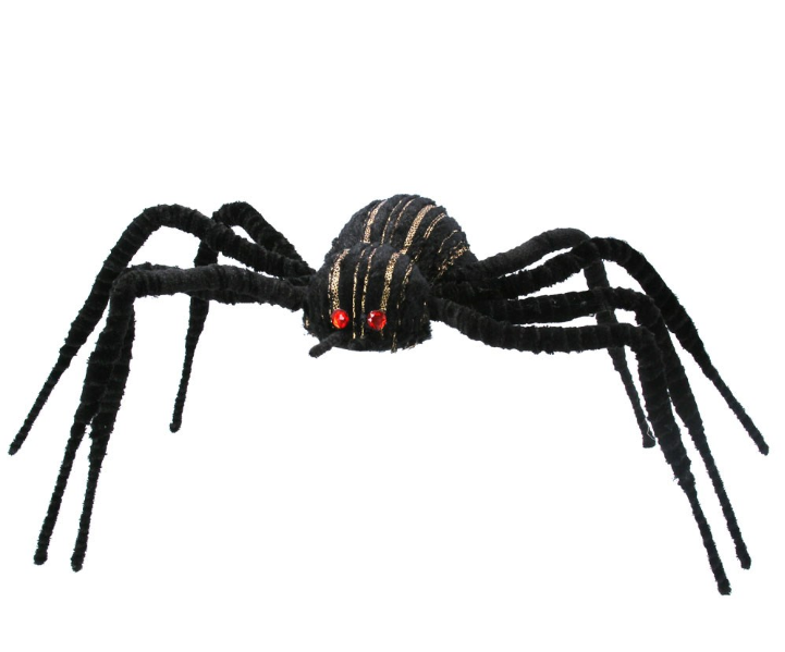 Gisela Graham Giant Black Flocked Spider
