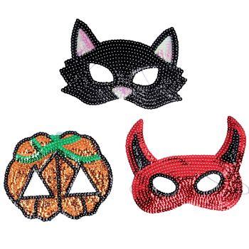 Gisela Graham Sequin Masks - 3 Assorted