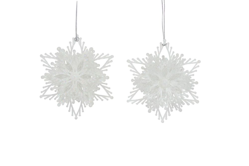 Gisela Graham Layered Iridescent Snowflake Decoration