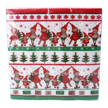 Gisela Graham Scandi Elf Paper Napkin - Pack of 20
