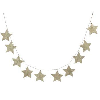 Gisela Graham Gold Glitter Star Garland