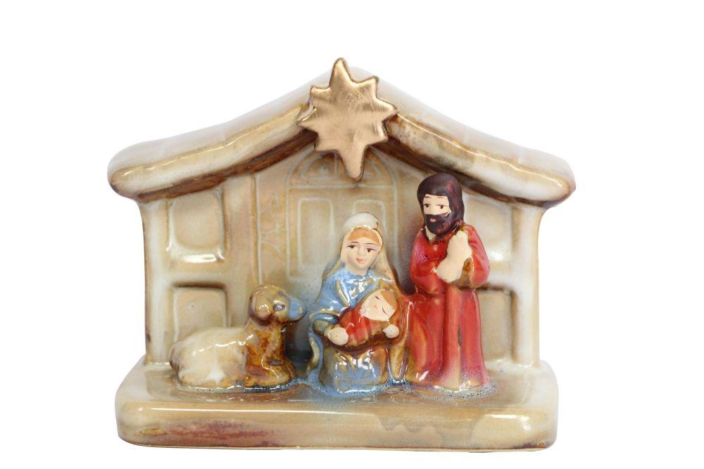 Gisela Graham Small Ceramic Nativity Ornament