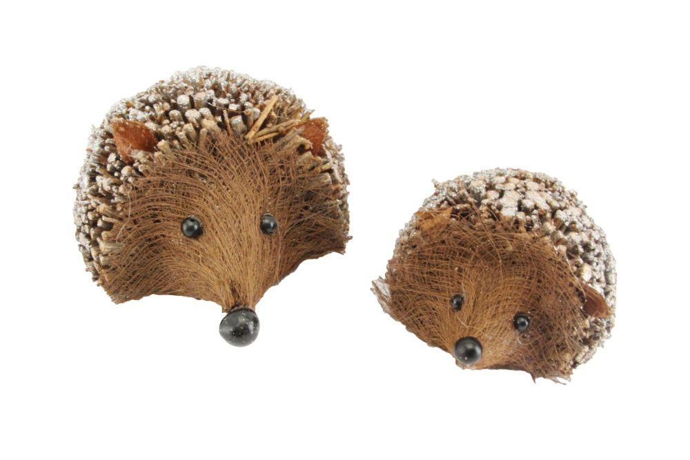 Gisela Graham Set of Two Twig Hedgehog Ornaments