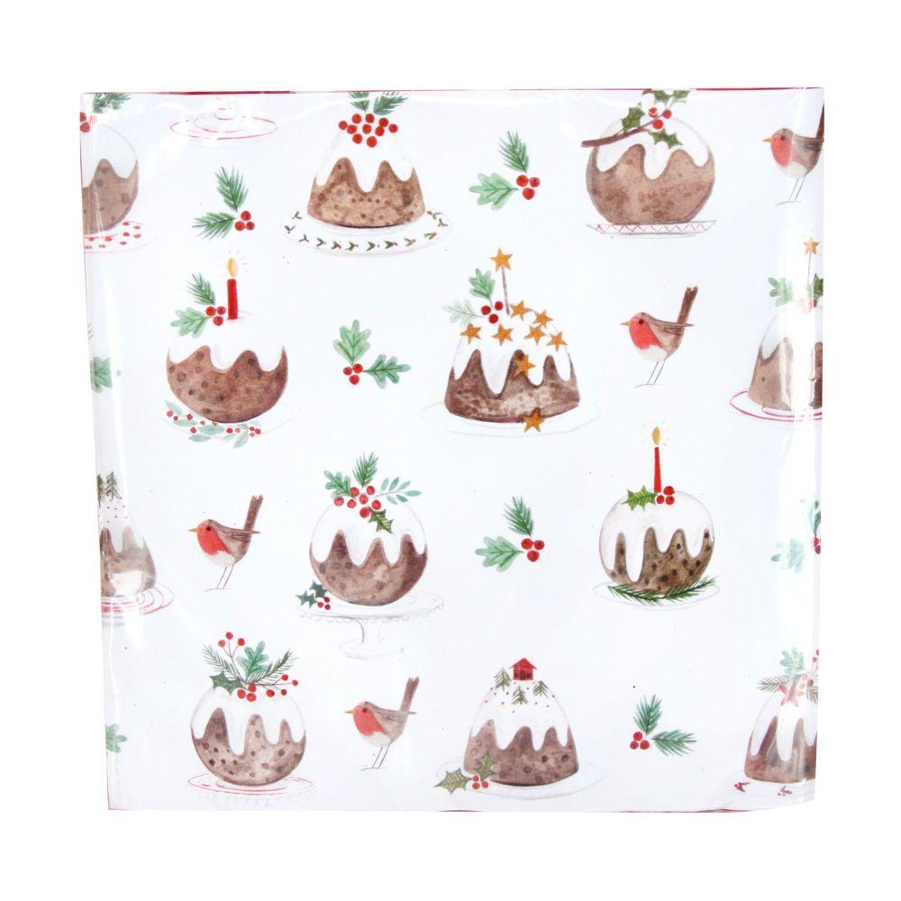 Gisela Graham Plum Pudding Paper Napkins - Pack of 20