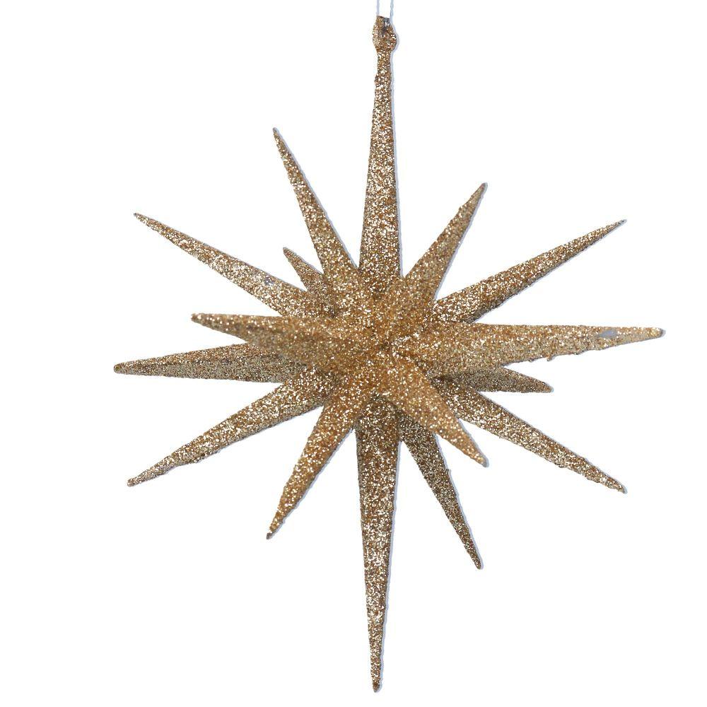 Gisela Graham Large Glitter Bethlehem Star - Gold