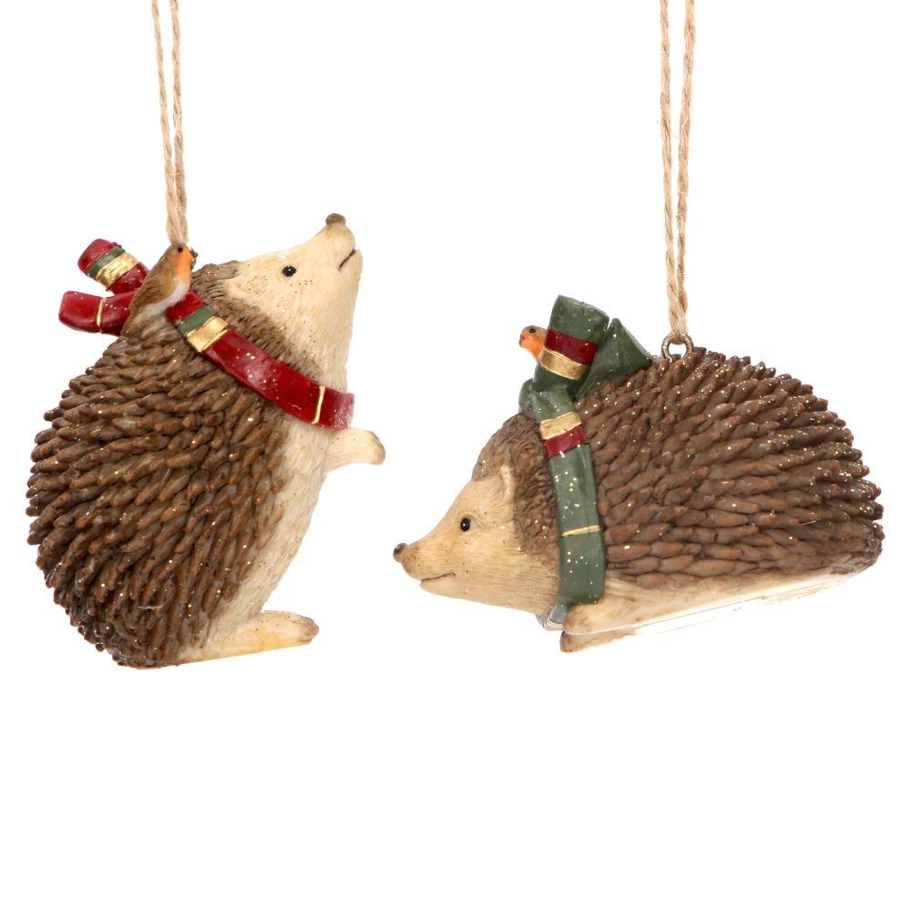 Gisela Graham Resin Woodland Hedgehogs - Set of 2