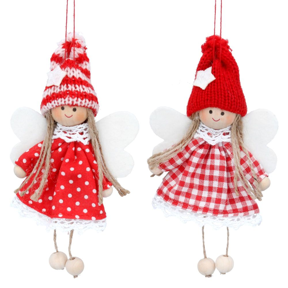 Gisela Graham Scandi Fairy Decorations - Set of 2