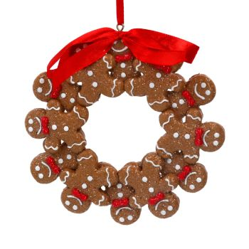 Gisela Graham Gingerbread Man Wreath Decoration