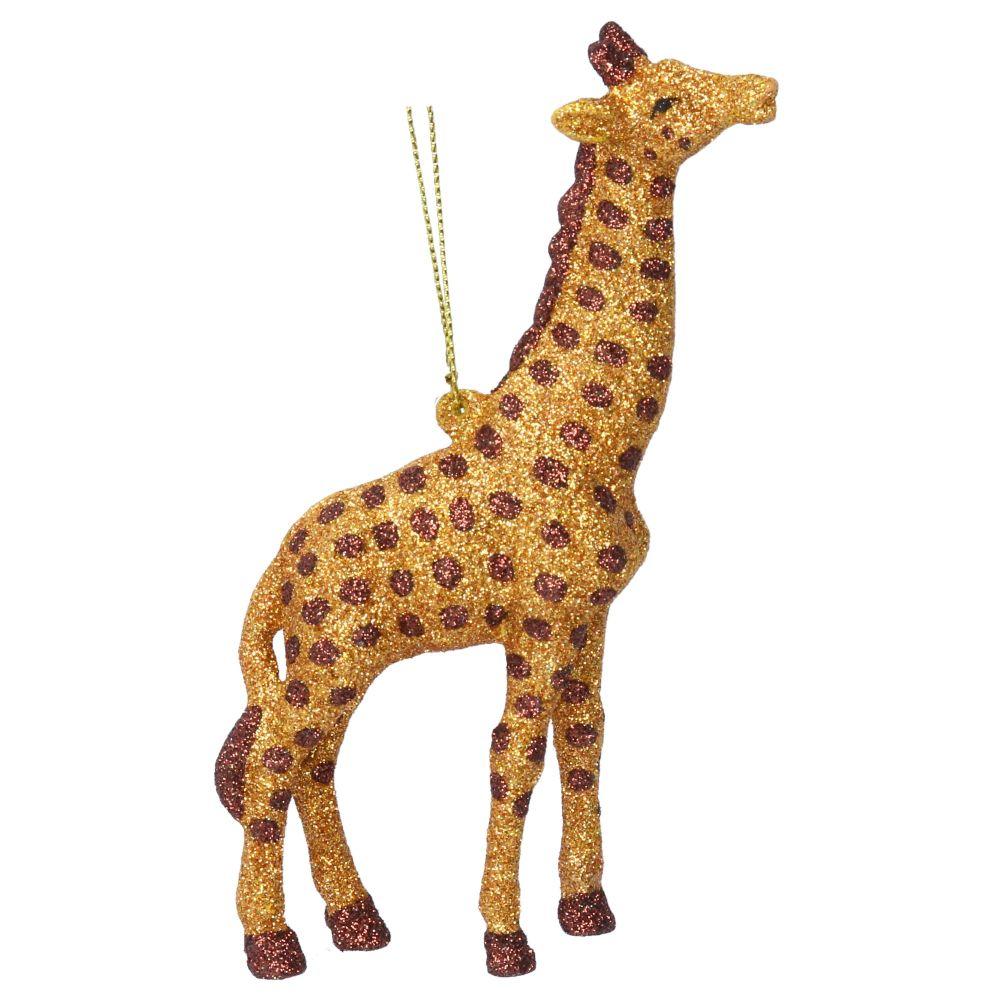 Gisela Graham Gold Glitter Giraffe Decoration