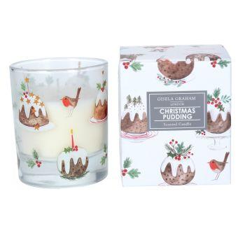 Gisela Graham Large Christmas Pudding Boxed Candle
