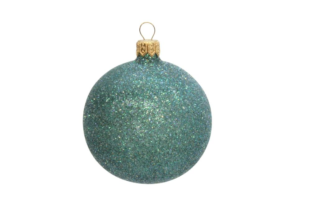Gisela Graham Peacock Glitter Bauble