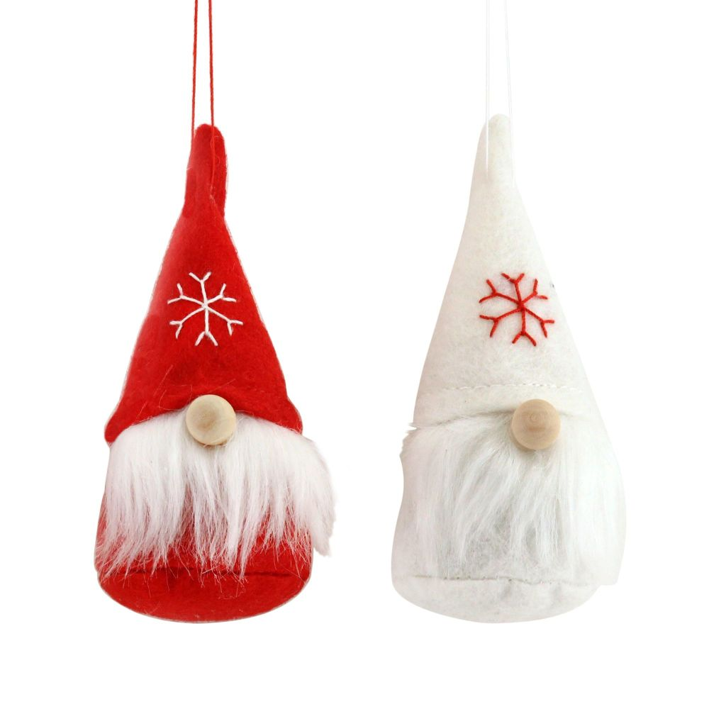 Gisela Graham Fabric Nordic Santa Set of 2