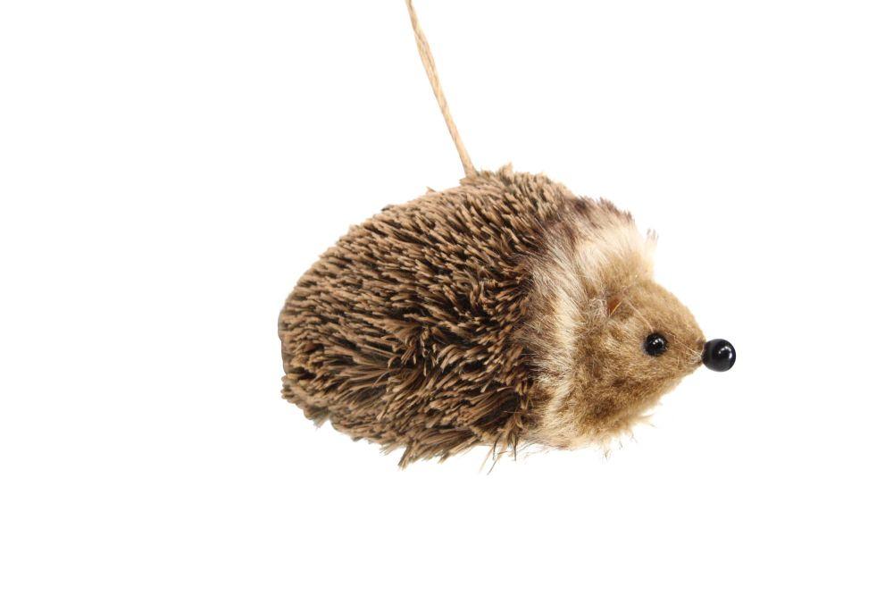 Gisela Graham Faux Fur Hedgehog Decoration