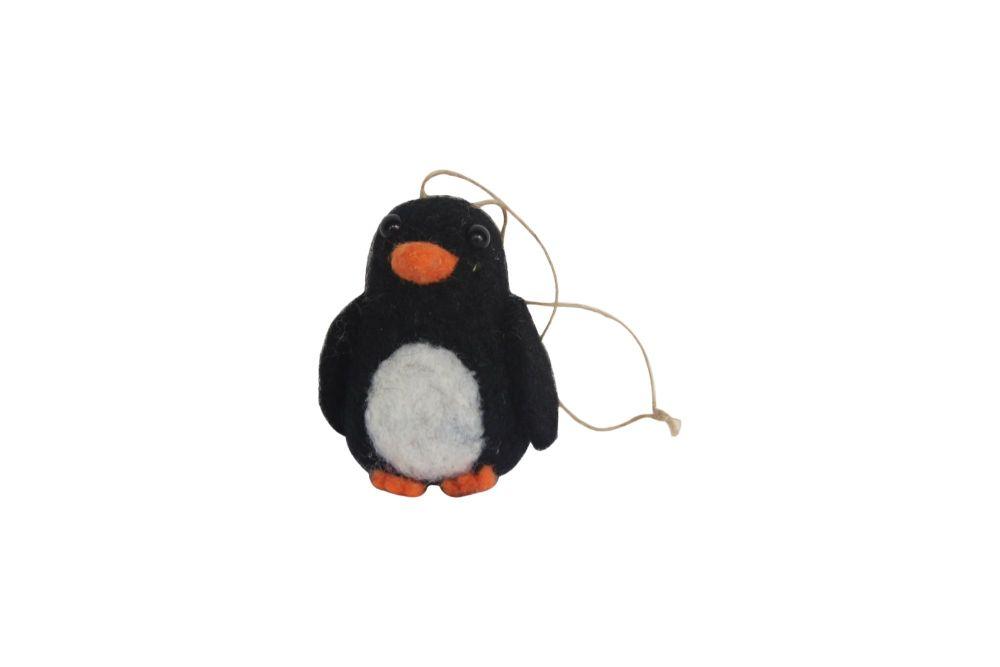 Gisela Graham Wool Penguin Decoration