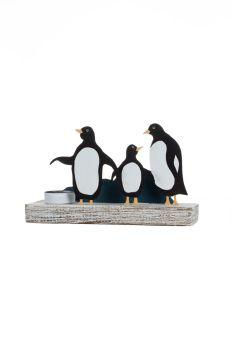 Shoeless Joe Penguin Family Tealight Votive