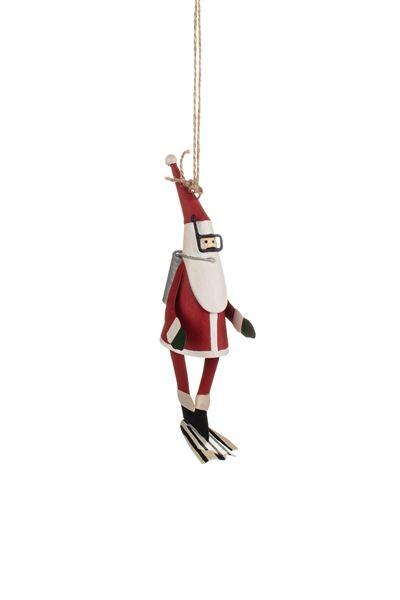 Shoeless Joe Scuba Santa Decoration