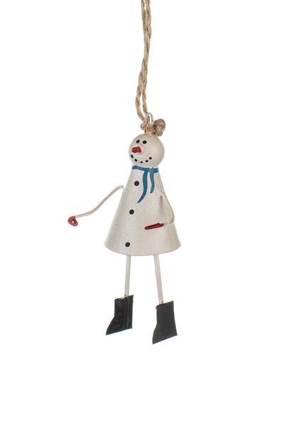 Shoeless Joe Mini Snowman Decoration