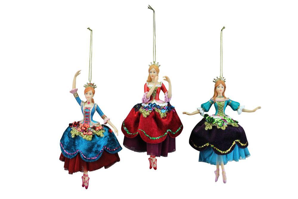 Gisela Graham Resin Dancing Princess Decorations - The Nutcracker Collectio
