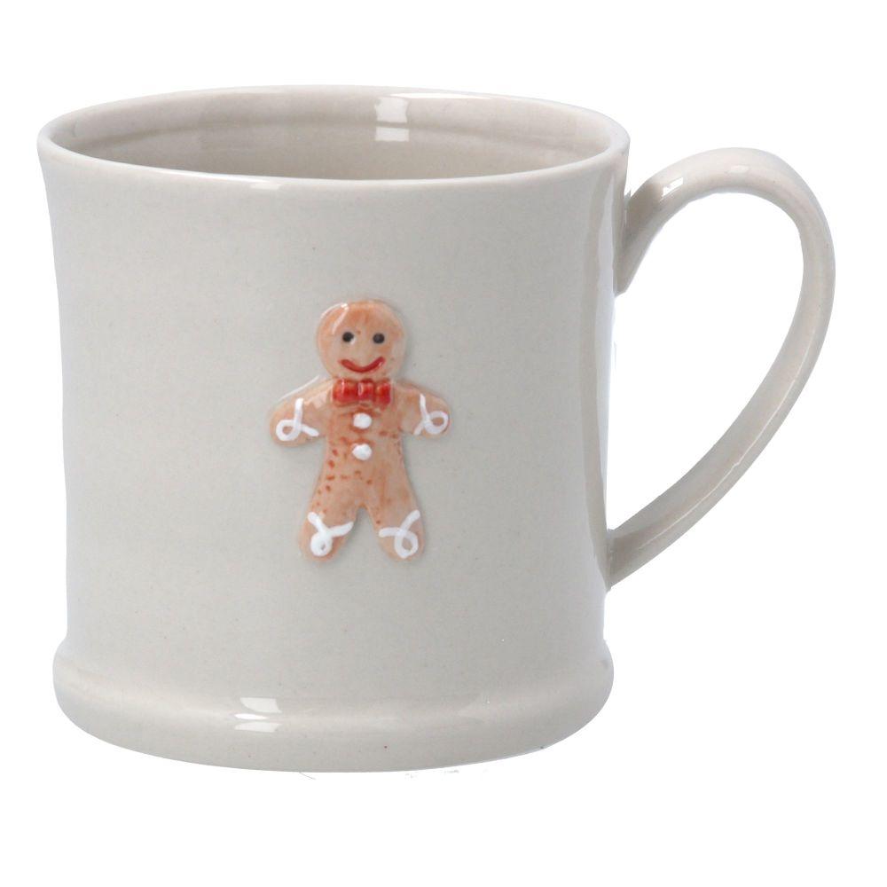 Gisela Graham Mini Ceramic Gingerbread Man Mug