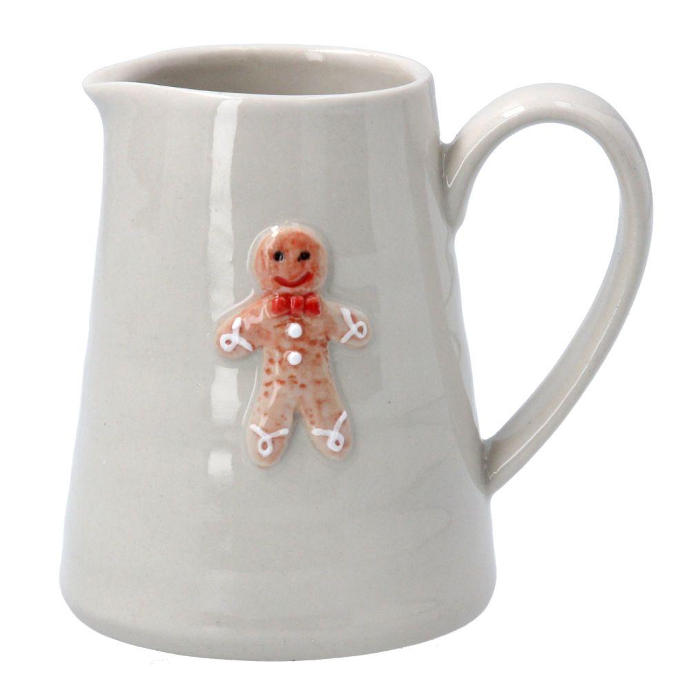 Gisela Graham Mini Ceramic Gingerbread Man Jug
