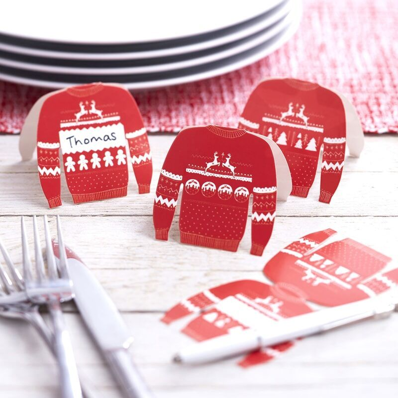 Ginger Ray Festive Jumper Place Cards