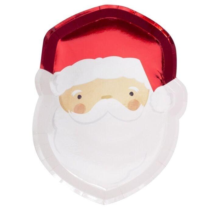 Ginger Ray Foiled Santa Paper Plates