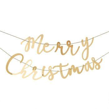 Ginger Ray Gold Acrylic 'Merry Christmas' Garland