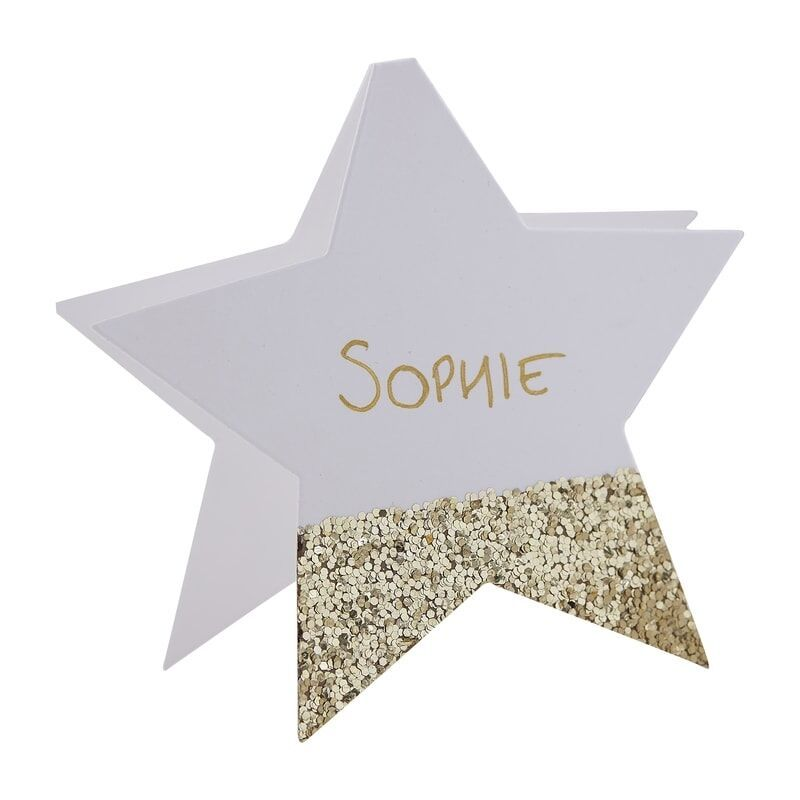 Ginger Ray Gold Glitter Star Name Place Cards