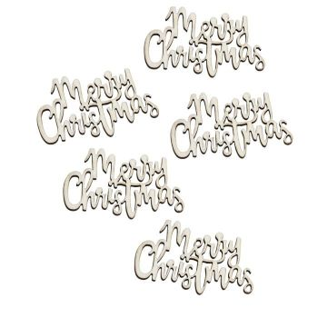 Ginger Ray Wooden Merry Christmas Table Confetti