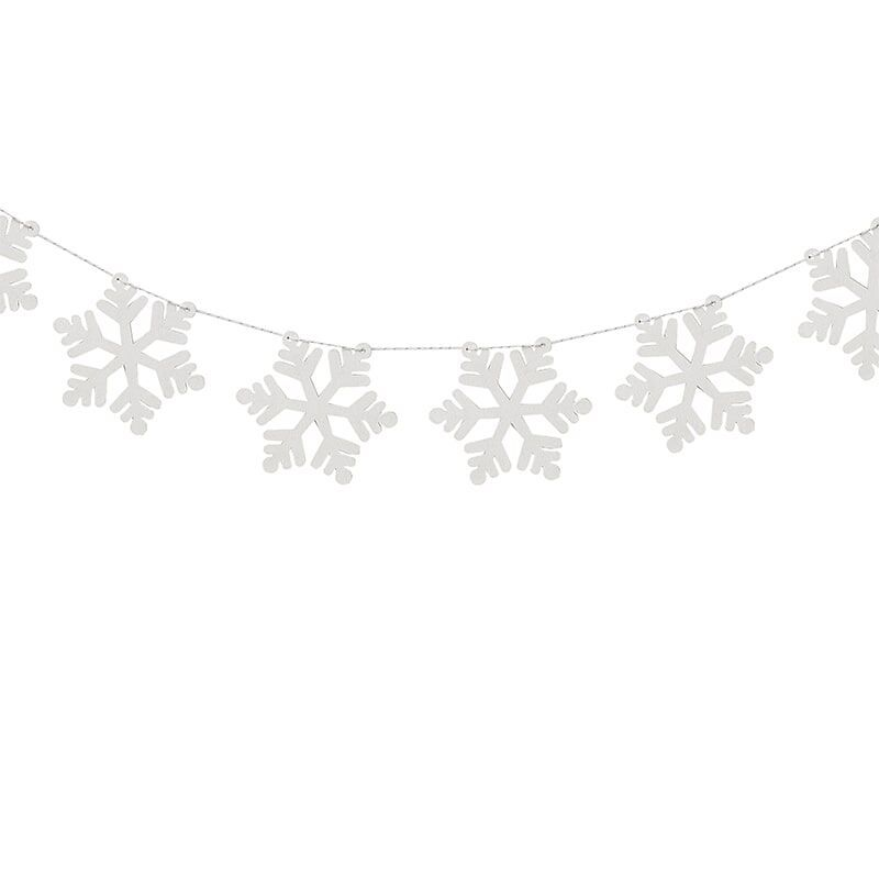 Ginger Ray Wooden Snowflake Garland
