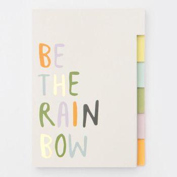 Caroline Gardner Rainbow Multi Tab Notebook