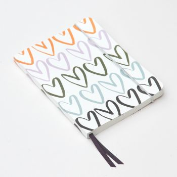Caroline Gardner Rainbow Hearts A5 Notebook