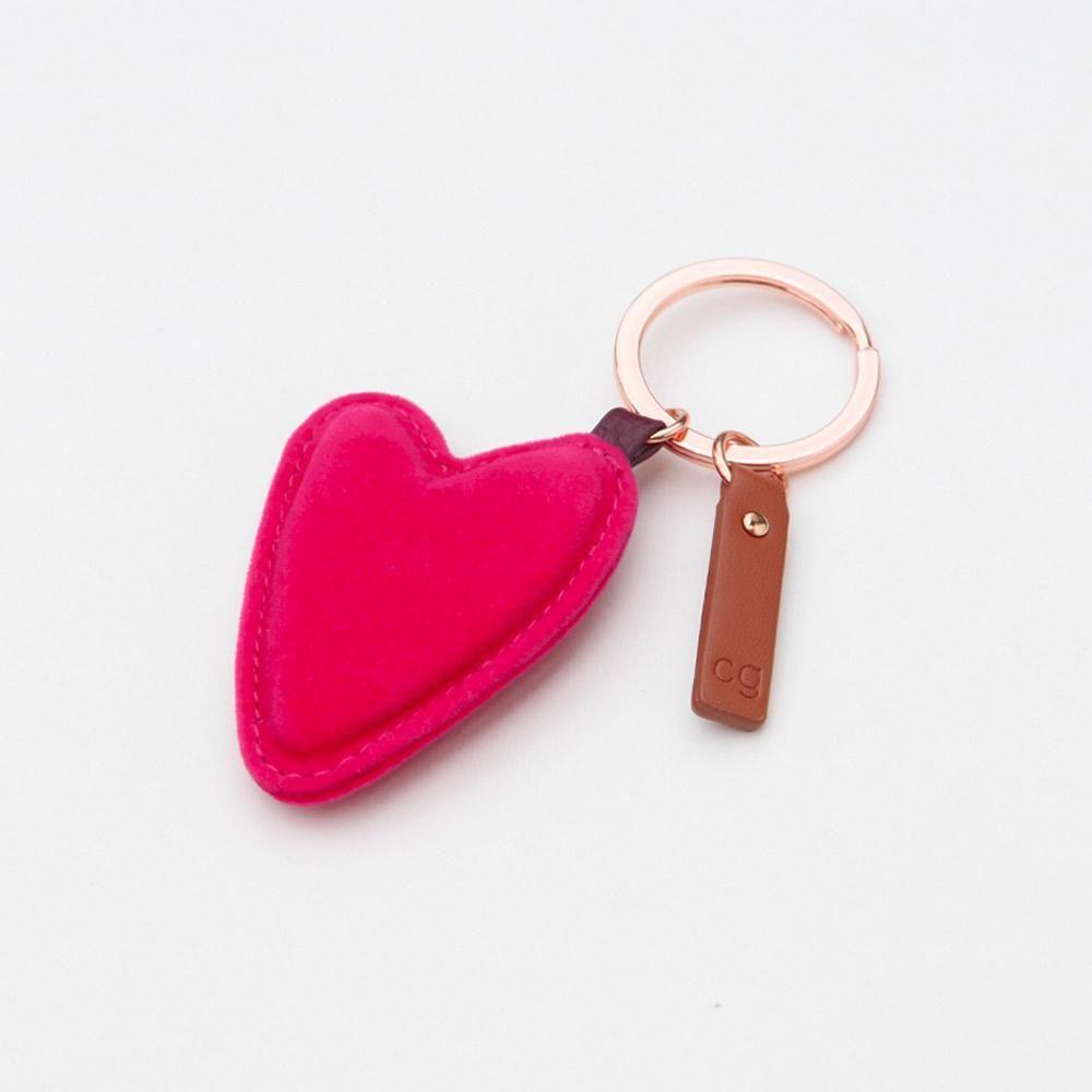 Caroline Gardner Velvet Heart Keyring