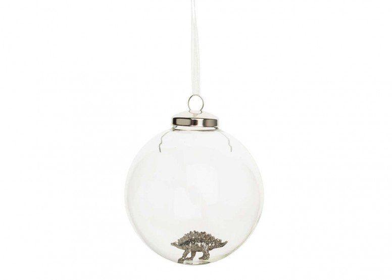 Winter's Tale Stegosaurus Glass Bauble