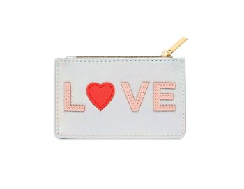 Estella Bartlett Love Applique Card Purse
