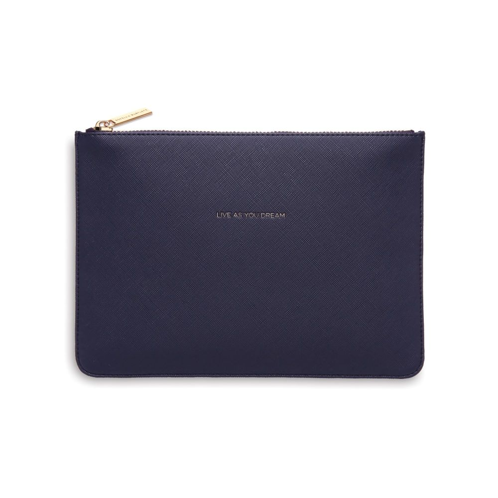 Estella Bartlett Navy 'Live As You Dream' Pouch