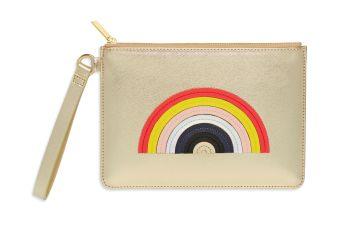 Estella Bartlett Applique Rainbow Pouch with Strap