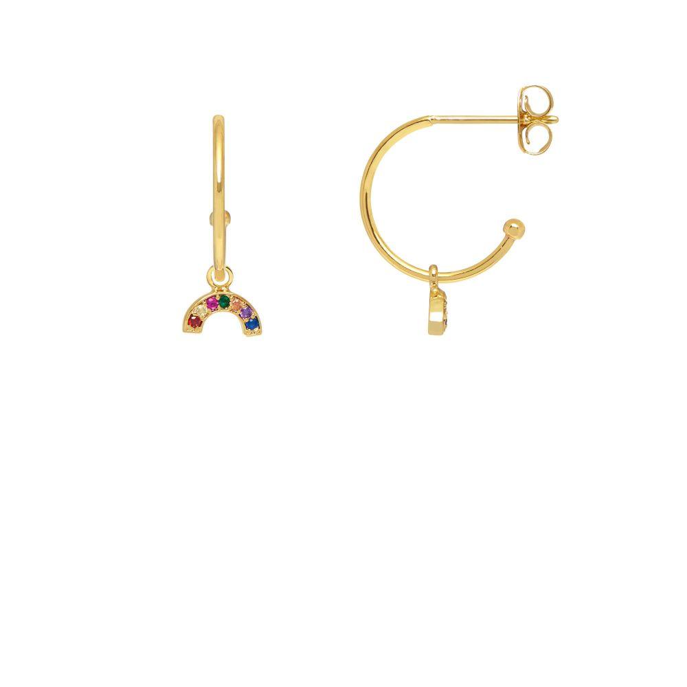 Estella Bartlett Rainbow Drop Hoop Earrings