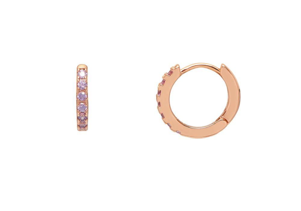 Estella Bartlett Lavender Hoop Earrings