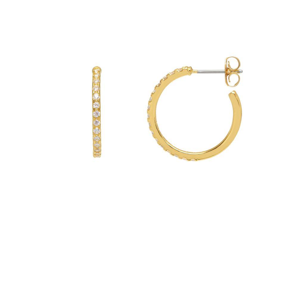 Estella Bartlett Large Pave Gold Hoop Earrings