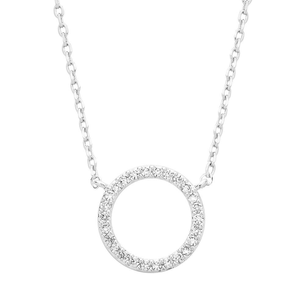 Estella Bartlett Pave Circle Necklace