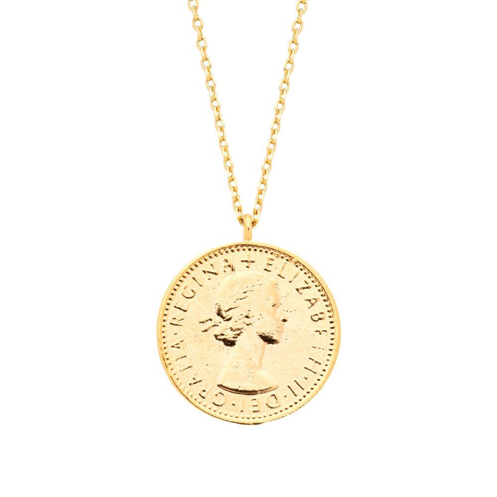 Estella Bartlett Lucky Gold Sixpence Necklace