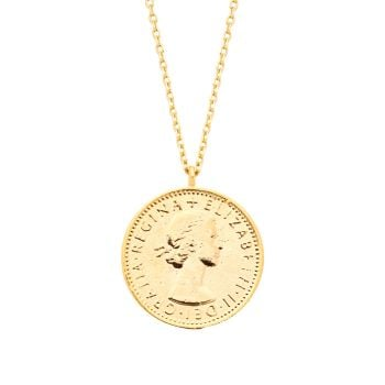 Estella Bartlett Lucky Gold Sixpence Necklace