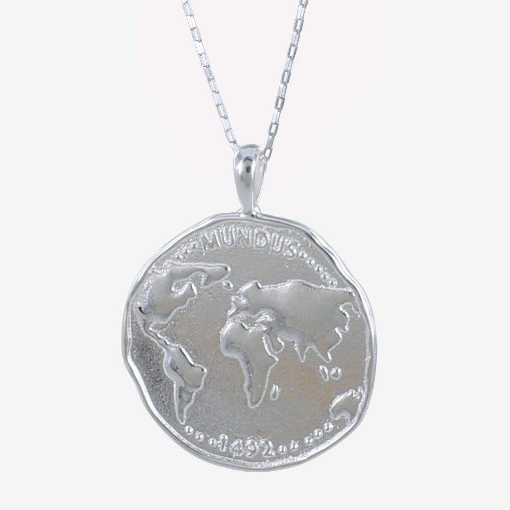 Sterling Silver World Coin Necklace