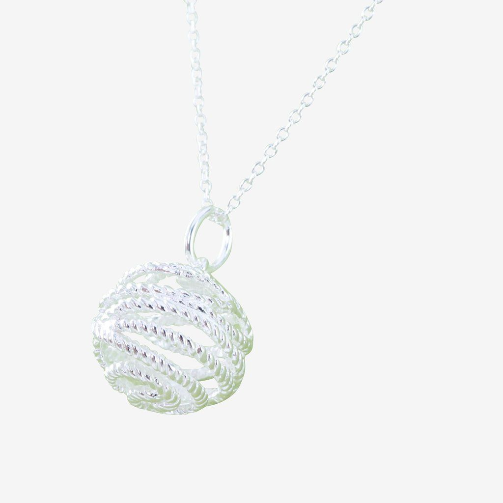 Sterling Silver Bridport Rope Necklace