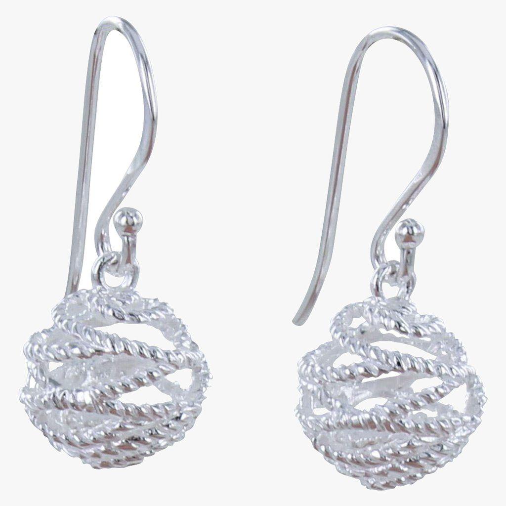 Sterling Silver Bridport Rope Earrings